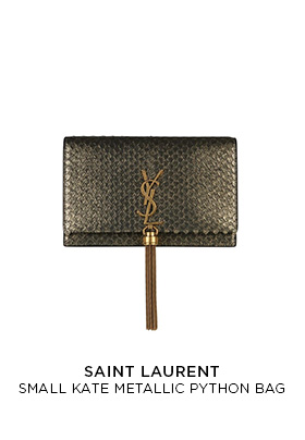 Saint Laurent small Kate metallic python bag