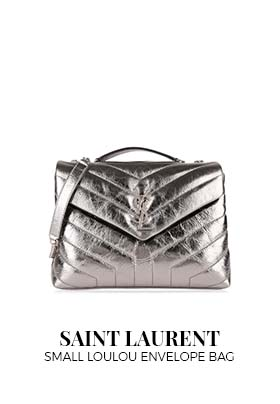 Saint Laurent Small Loulou Envelope Bag Silver