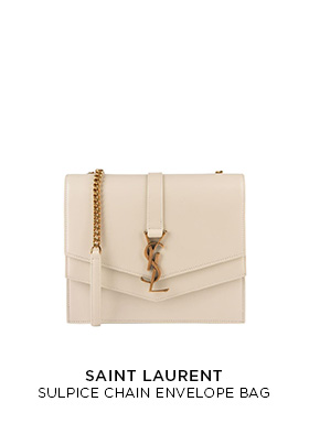 Saint Laurent Sulpice cream leather bag