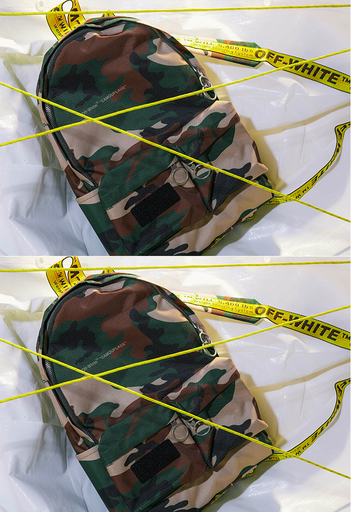 Off-White camouflage tape backpack