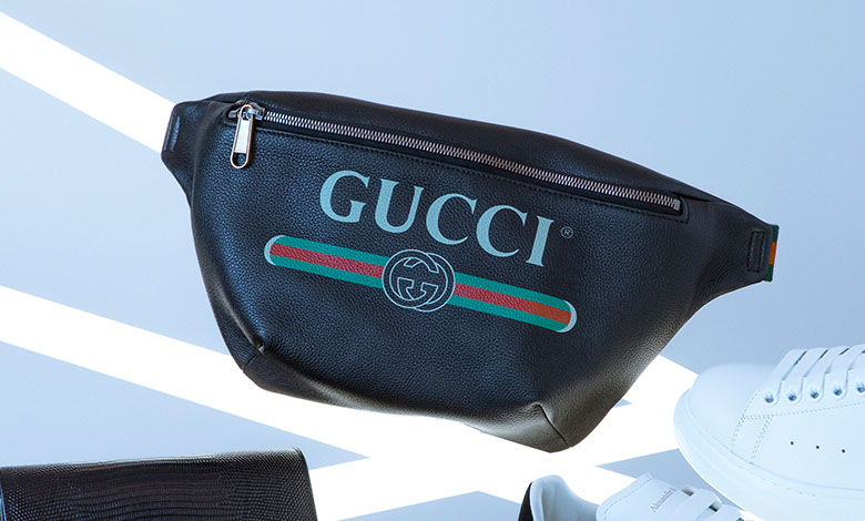 A Gucci fake logo bum bag