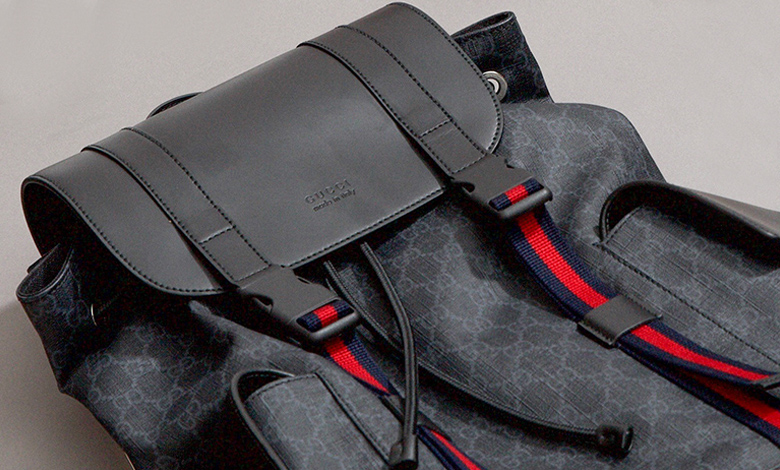 Gucci GG Supreme backpack in grey