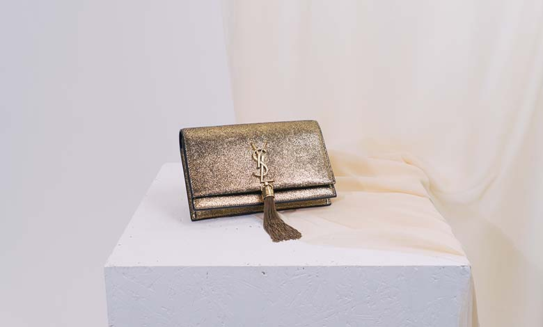 Saint Laurent tassel chain shoulder wallet