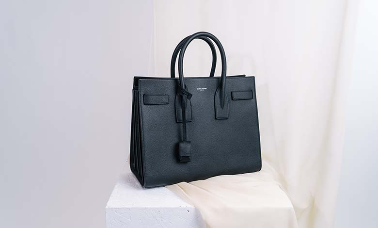 Black leather Saint Laurent Sac de Jour handbag