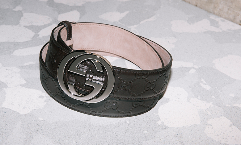 Gucci interlocked embossed belt