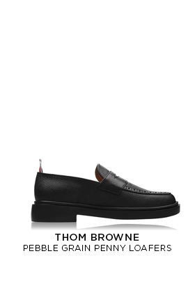 Thom Browne pebble grain penny loafers