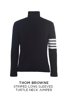 Thom Browne striped long sleeved turtle neck jumper