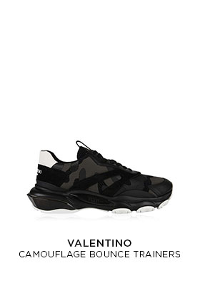 Valentino camouflage bounce trainers