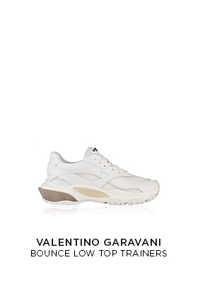 White Valentino Bounce raised sole trainers