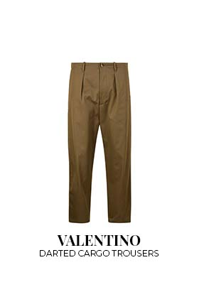 Valentino darted cargo pants