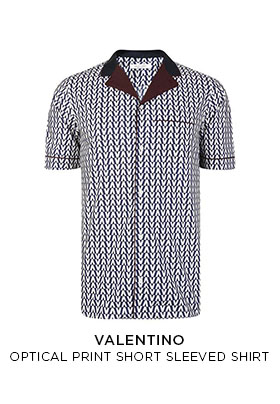 Valentino optical print short sleeved shirt