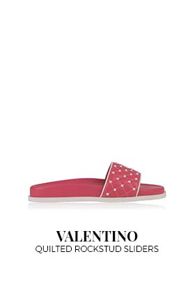 Valentino quilted rockstud sliders