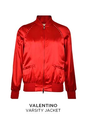 Valentino red varsity jacket