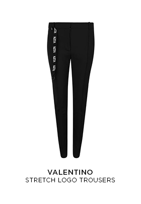 Valentino stretch logo trousers