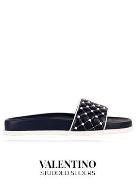 Valentino studded sliders