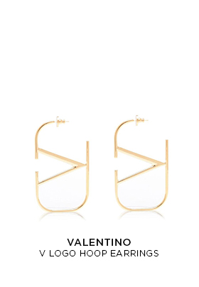 Valentino V logo hoop earrings