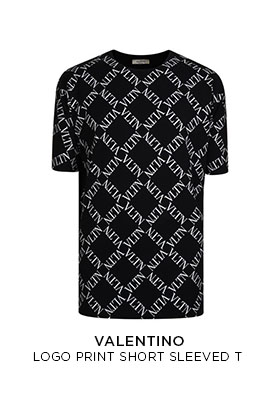 Valentino oversized logo print short sleeved T-shirt