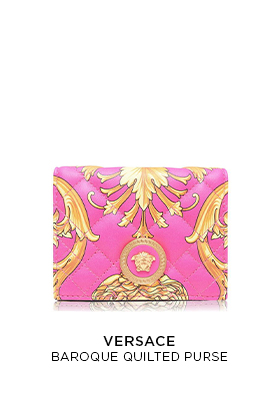 Versace baroque quilted purse