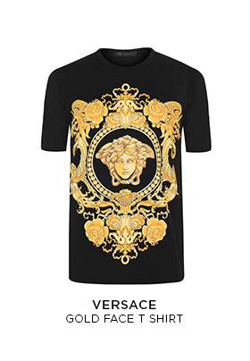 Versace gold face T-shirt
