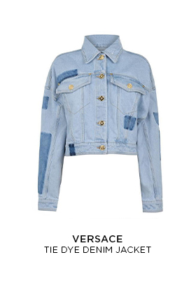Versace tie dye denim jacket