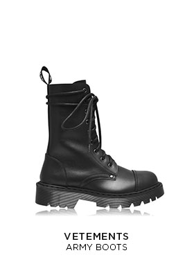 Vetements army boots