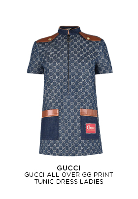 Gucci All Over Gg Print Tunic Dress Ladies