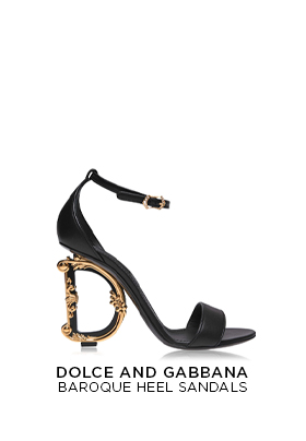 Dolce and Gabbana Baroque Heel Sandals