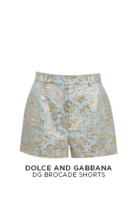 Dolce and Gabbana DG Brocade Shorts Ld11