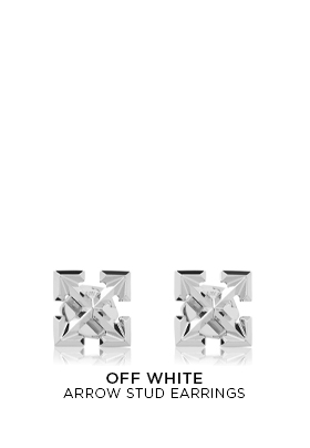 Off-White Arrow Stud Earrings