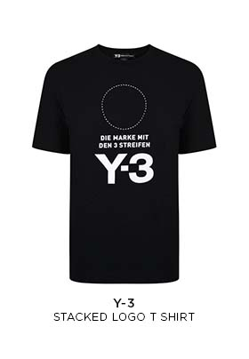 Y3 stacked logo T-shirt