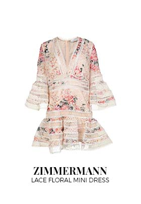 Zimmermann lace floral mini dress