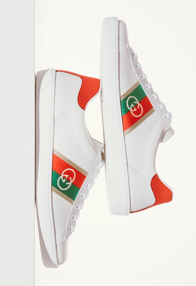 Gucci New Ace Gg Webbed Low Trainers