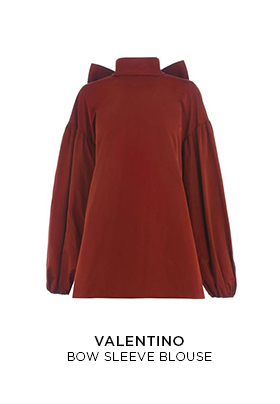 Valentino Bow Sleeve Blouse
